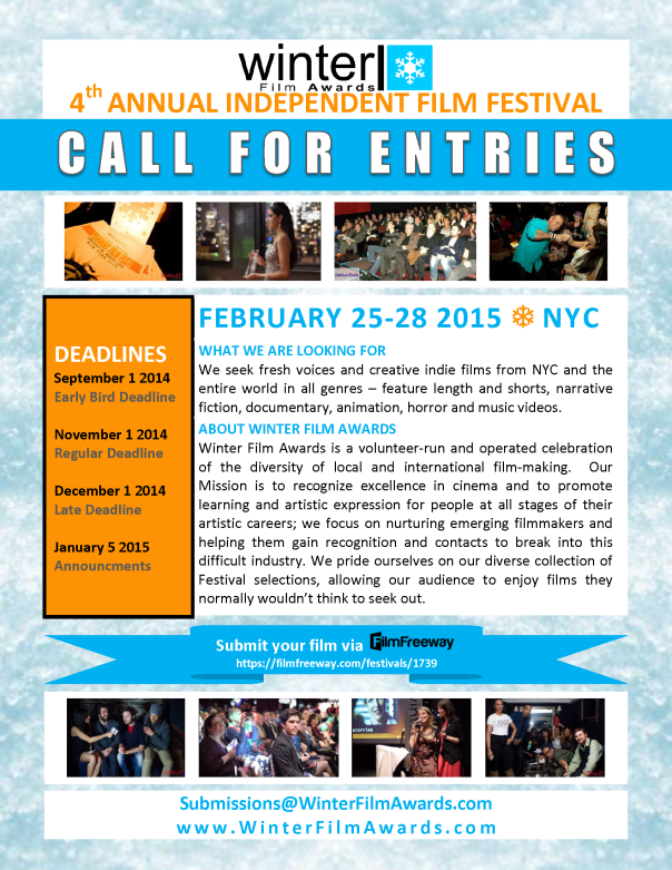 WFA 2015 Call For Entries Poster