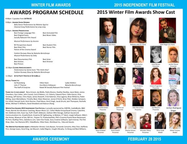2015 WFA Festival Awards Program INSIDE PAGE